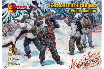 1/72 WWII German paratroopers winter uniform