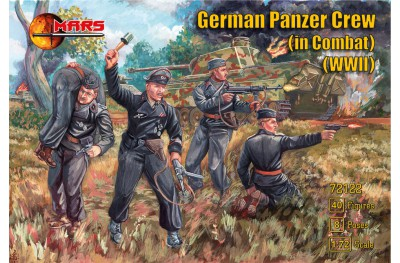 1/72 WWII German panzer crew in combat