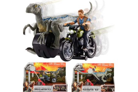 1/18 Jurassick World Owen and Blue playset