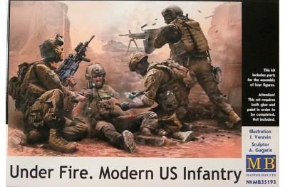 1/35 Under Fire US modern infantry