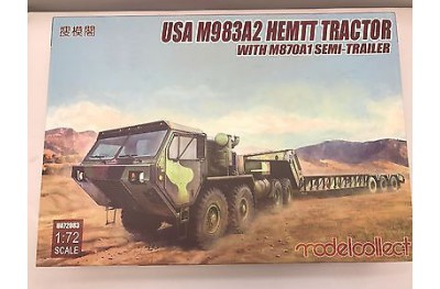 1/72 US M-983A2 HEMTT tractor with semi trailer