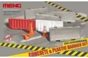 1/35 Concrete and plastic barrier set