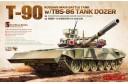 1/35 Russian main battle tank T-90 w/ TBS-86 tank dozer