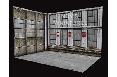 1/72 Soviet hangar set (base and 2 backdrops)