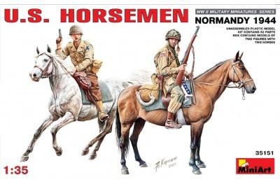 1/35 US horsemen Normandy 1944
