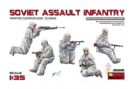1/35 Soviet assault infantry winter camo