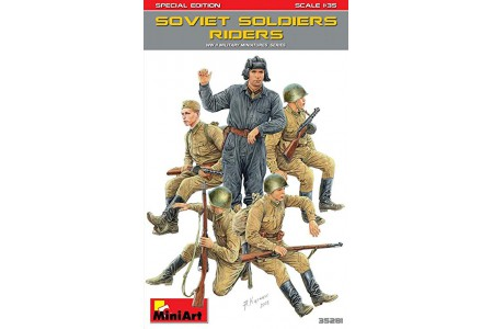 1/35 Soviet soldiers riders
