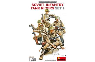 1/35 Soviet infantry tank riders set 1