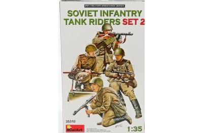 1/35 Soviet infantry tank riders set 2