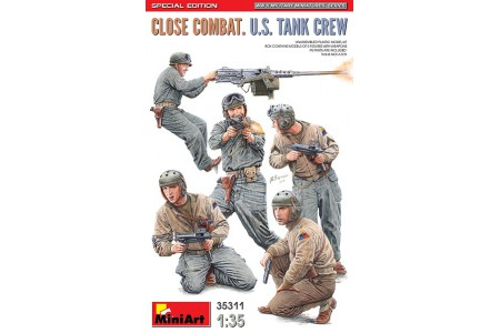1/35 US tank crew Close combat with machine gun