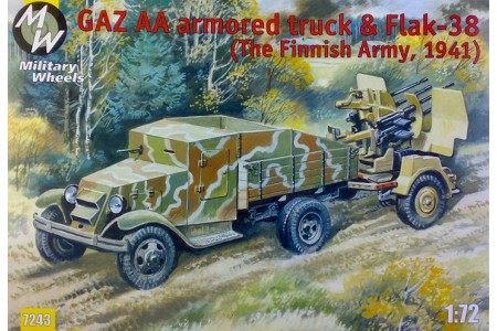 1/72 Gaz AA armored car Flak 38