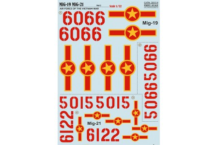 1/32 Vietnam MiG-19 MiG-21 decal Part 2