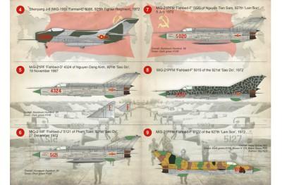 1/48 Vietnam MiG-17 MiG-19 MiG-21 decal Part 1