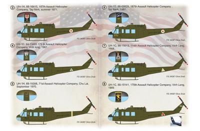 1/72 UH-1 in Vietnam decal