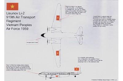 1/72 Li-2/ DC-3 Vietnam People Airforce decal