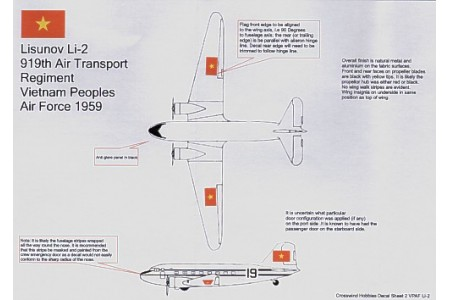 1/72 Li-2/ DC-3 Vietnam People Airforce decal