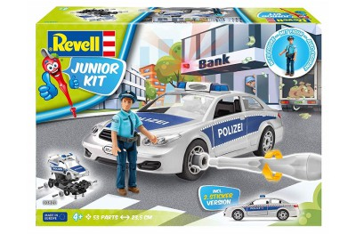 1/18 Junior kit Police car and figure 1/20 (quick build)