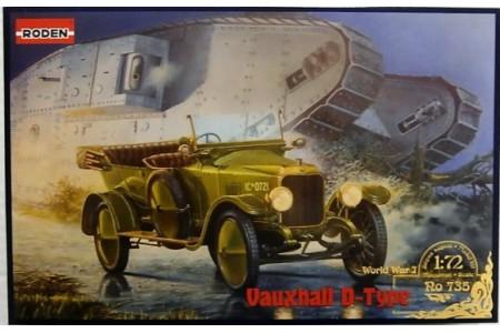 1/72 Vauxhall D-type car WWI