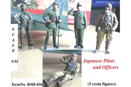 1/32 Japanese Pilots and Officers