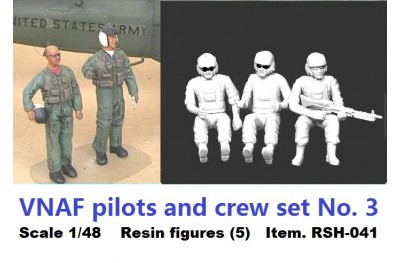 1/48 VNAF Pilots and Crew set No 3