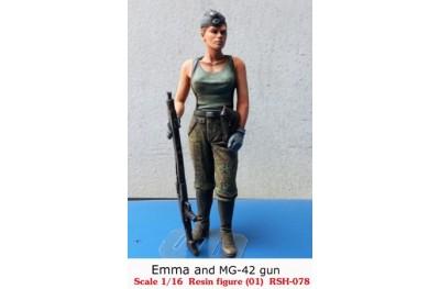 1/16 Emma and MG-42 gun