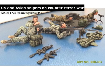 1/35 US and Asian snipers on counter terror war