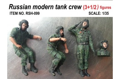 1/35 Russian modern tank crew