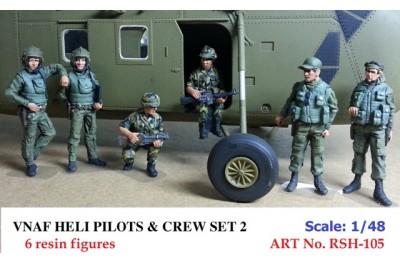 1/48 VNAF Heli Pilots and crew set 2