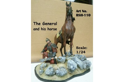 1/24 The General and his horse (with base)