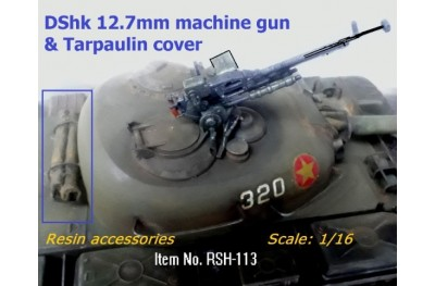 1/16 DShk 12.7mm Machinegun and Tarpaulin cover