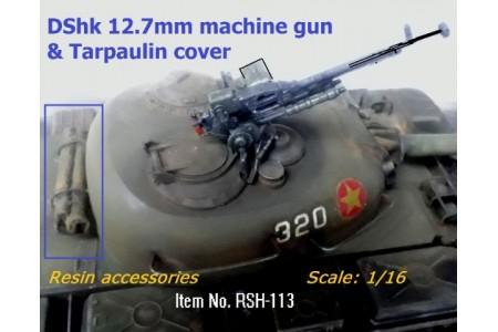 1/16 DShk 12.7mm Machinegun and Tarpaulin cover