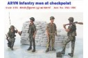 1/35 ARVN infantrymen at checkpoint w/decal