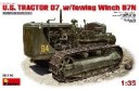 1/35 US tractor D7 with towing winch