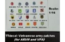 1/16 Vietnamese Army patches decal
