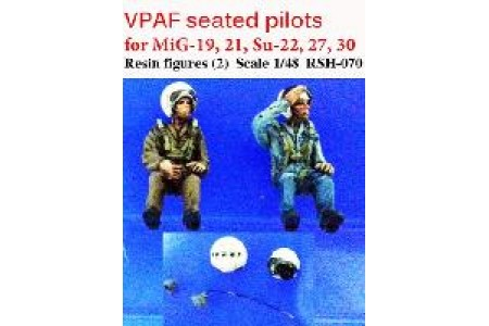 1/48 VPAF seated pilots (for MiG-21 & Su-27)