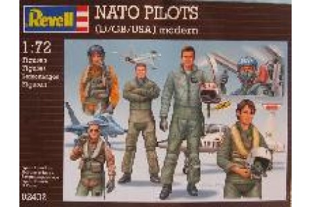 1/72 NATO pilots (standing and seated poses)