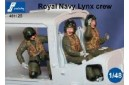 1/48 Royal Navy helicopter pilots seated