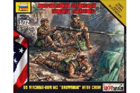 1/72 US machinegun M-2 Browning w/ crew
