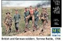 1/35 British and German soldiers Somme battle
