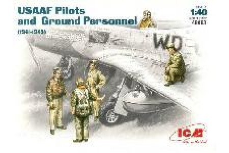 1/48 USAF pilots and ground personnel WWII