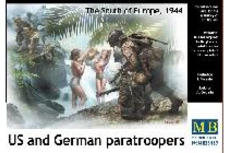 1/35 US and Germanparatroopers