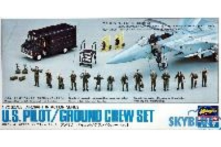 1/72 US pilot ground crew set