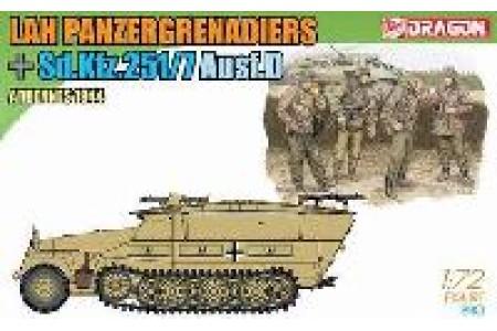 1/72 Sdkfz 251/7 w/ panzergrenadiers