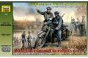 1/35 German R-12 heavy motorcycle w/ riders