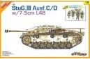 1/35 Stug III Ausf C/D w/ 4 soldiers