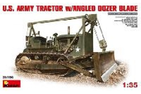 1/35 US army tractor with angled dozer blade