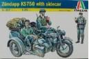 1/35 Zundapp Sidecar w/ 3 soldiers