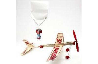 Sky launcher w/ parachutist (flying toy)