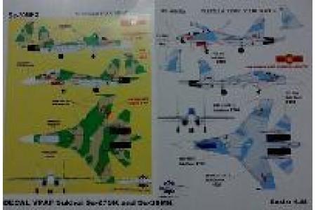 1/48 VPAF Su-27 and Su-30 decals