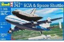 1/144 Boeing 747 SCA & Space shuttle